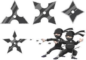 Les vecteurs étoiles de Ninja vecteur