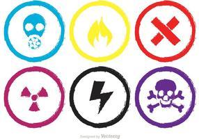 Vecteurs colorés de signes chimiques