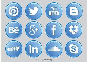 Icônes de bouton de médias sociaux vecteur