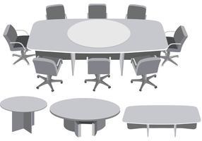 Vecteur de réunion de table ronde