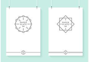 Plaques de papier vectoriel suspendues gratuites