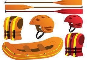 Ensemble vectoriel de rafting