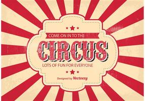 Illustration de fond de cirque vecteur