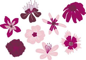 Vecteurs de fleurs dessinées à la main vecteur