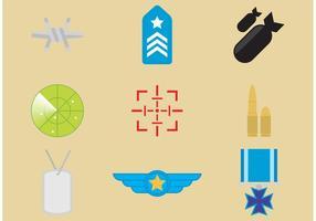 Icônes vectorielles militaires vecteur