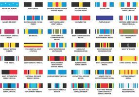 Vecteurs de ruban de la marine américaine vecteur