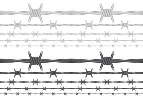 Vecteurs de fil de fer barbelé vecteur