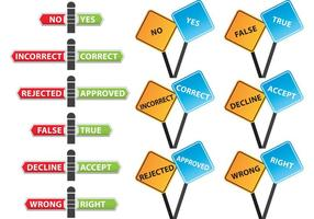 Correction de signes vectoriels incorrects