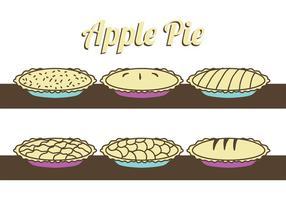 Vecteurs de tarte aux pommes