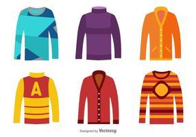 Vêtements de saison d'hiver vecteur