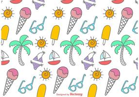 Doodles Beach Time Pattern vecteur