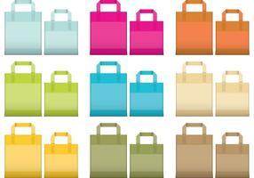 Vecteurs de sacs réutilisables vecteur