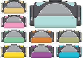Vecteurs de sac à dos sport colorés vecteur