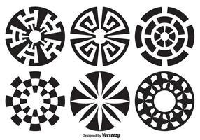 Ensemble de forme de cercle décoratif vecteur