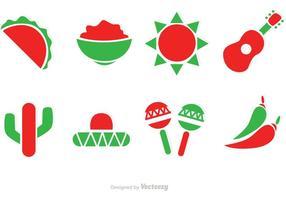 Icônes vectorielles au Mexique vecteur