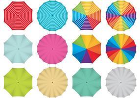Parapluies vectorielles colorées