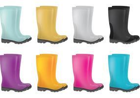 Vecteurs de bottes de pluie vecteur