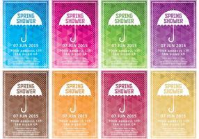 Invitations de mariage de douche de printemps
