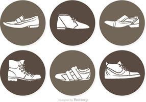 Vecteurs de cercle d'hommes chaussures