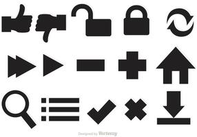 Vecteurs d'icônes Web vecteur