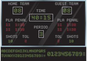 Vecteur de tableau de score de hockey