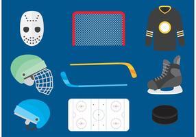 Icônes de vecteur de hockey