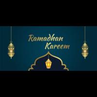 cartes de voeux lanterne dorée pour ramadan