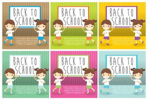 Vecteurs de cartes de retour à l'école vecteur