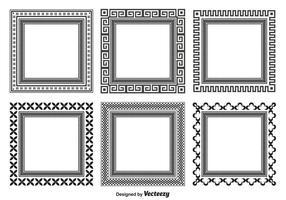 Formes de cadre décoratif vecteur