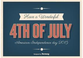 Affiche typographique de la Fête de la Indépendance vecteur