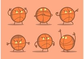 Vecteur de basket-ball en colère
