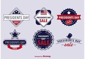 Badges de la journée des présidents vecteur