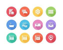 Icônes gratuites de l'immobilier immobilier plat vecteur