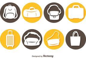 Icônes de sacs de vecteur