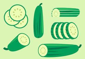 Vecteurs de concombre vecteur