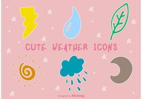 Icônes météorologiques mignonnes