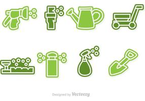 Icônes de pelouse vectorielle