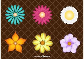 Décorations florales vecteur