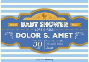 Modèle de douche de douche de bébé vecteur