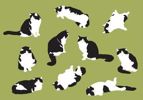 Vecteurs de chat à graisse manuelle