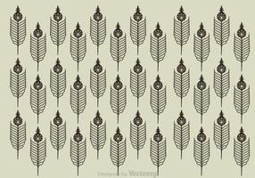 Paquet de plumes de paon vecteur