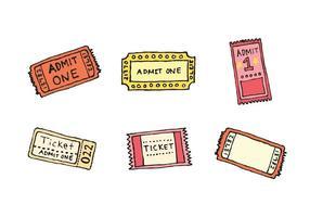 Série de vecteurs de boutons de billets de concert gratuits vecteur