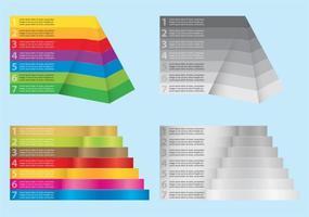 Graphiques pyramidaux vecteur