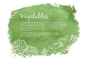Illustration vectorielle des légumes dessinés gratuits vecteur
