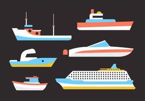 Collection gratuite de navires vecteur