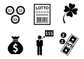 Icônes vectorielles à thème de loterie vecteur