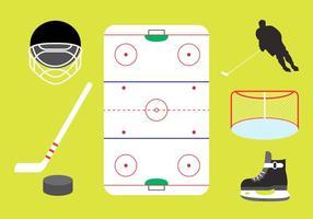 Éléments vectoriels de hockey