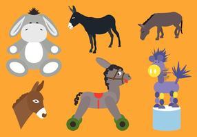 Collection de vecteurs d'âne vecteur