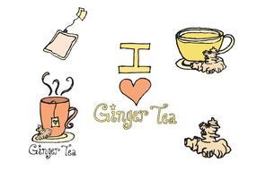 Série gratuite de vecteur de thé au gingembre