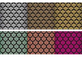 Vecteurs classiques de tapisserie damassé